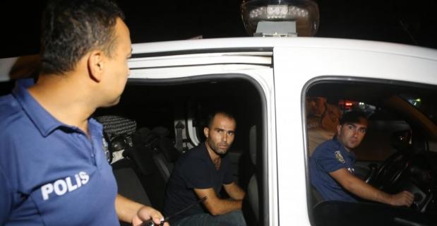 Polis zanlıyı ticari taksiyle kovalayıp yakaladı