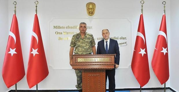 Tuğgeneral Olgay, Vali Ata'ya veda etti