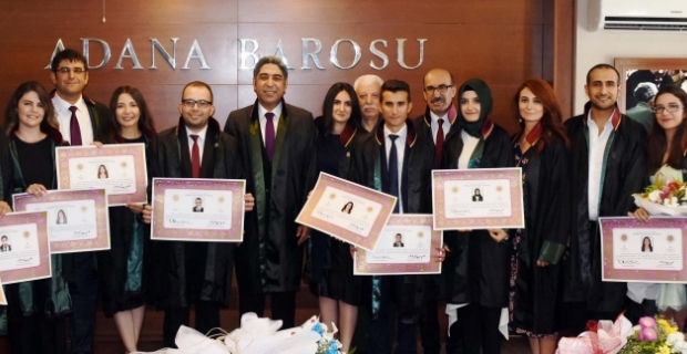 Adana Barosunda avukatlık ruhsatı töreni