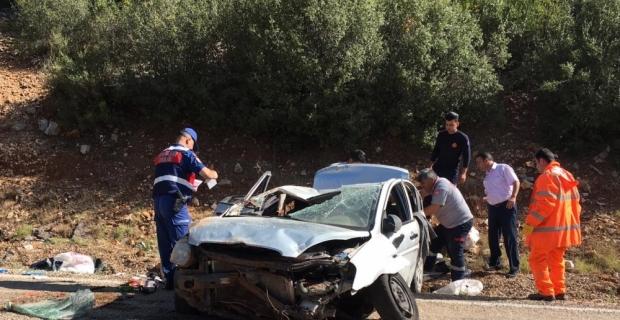Burdur'da otomobil devrildi: 1 ölü