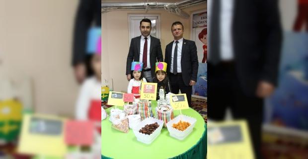 Anasınıfı öğrencilerinden yöresel ürünler pazarı