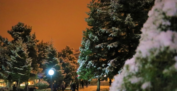 Burdur'da kar sevinci