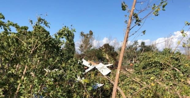 Rüzgar Belek'te zarara yol açtı
