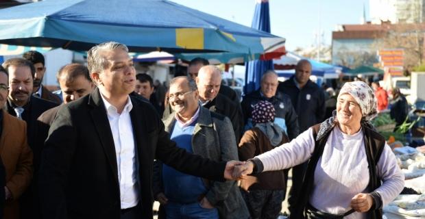 Muratpaşa Belediyesi Başkanı Uysal, esnafla buluştu