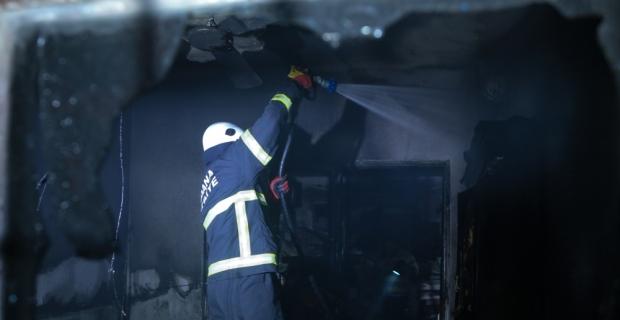 Prizde unutulan ütü nedeniyle yangın çıktı