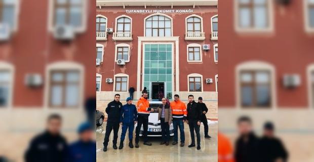 Tufanbeyli İlçe Emniyet Amirliğine otomobil bağışı