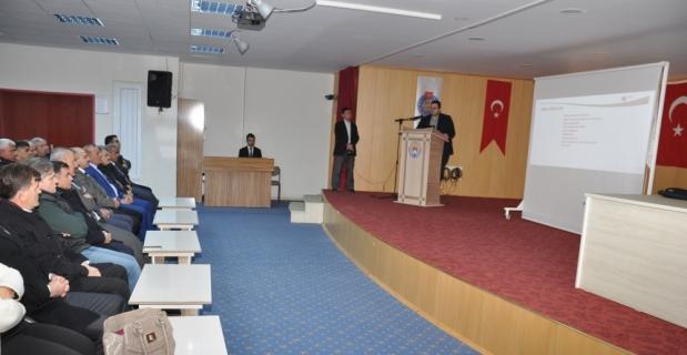 Afşin'de ÖSYM sınavları bilgilendirme toplantısı yapıldı