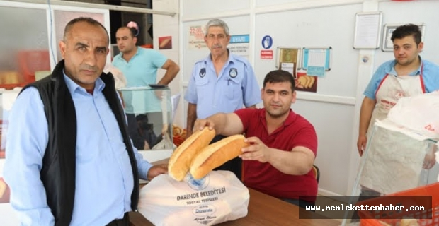 Darende Belediyesi Ekmek Fiyatlarını 50 kuruşa İndirdi.