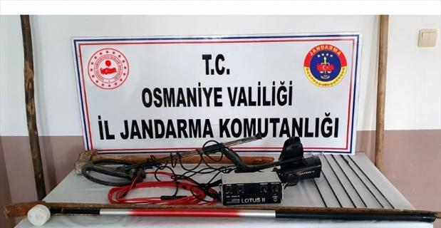 Osmaniye'de kaçak kazı yapan 4 kişi suçüstü yakalandı