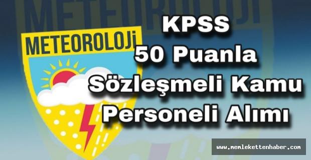 KPSS 50 Puan ile personel alınacak.