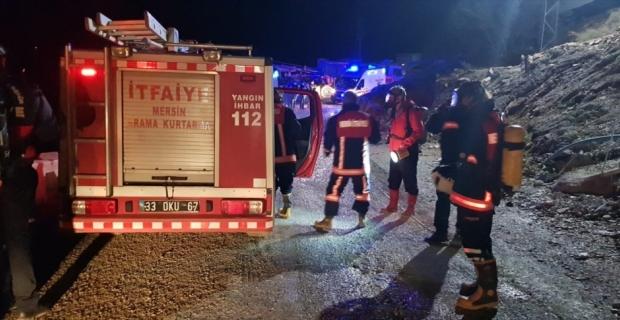 Mersin'de tünel inşaatında çıkan yangında dumandan etkilenen 8 işçi hastaneye kaldırıldı