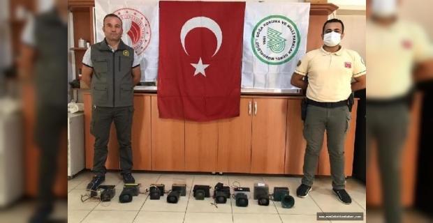 Osmaniye'de kaçak avcılıkta kullanılan ses cihazları imha edildi