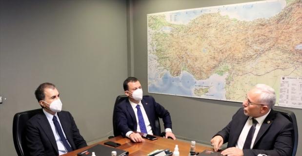 AK Parti Sözcüsü Ömer Çelik, Osmaniye OSB'de inceleme yaptı