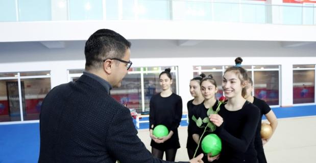 Kadın Ritmik Cimnastik Grup Milli Takımı'nın Mersin kampı devam ediyor