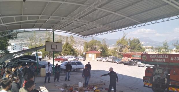 Adana'da orman yangını gönüllülerine eğitim