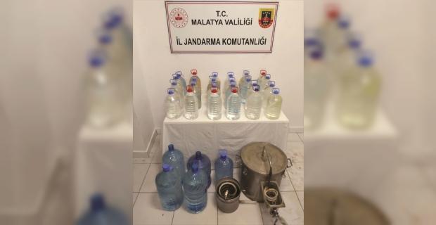 Malatya'da sahte içki operasyonunda 3 şüpheli gözaltına alındı