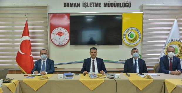 Mersin Orman Bölge Müdürlüğü değerlendirme toplantısını yaptı