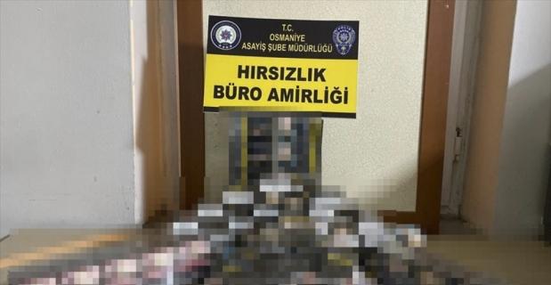 Osmaniye'de güvenlik kamerası kaydından teşhis edilerek yakalanan hırsızlık zanlısı tutuklandı