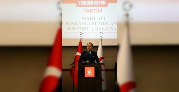 Yeniden Refah Partisi Genel Başkanı Erbakan, Malatya'daki İl Başkanları Toplantısı'nda konuştu: