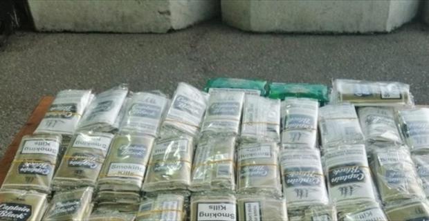 Adana'da 190 kilogram ve 166 paket kaçak tütünün ele geçirildiği operasyonda 3 zanlı yakalandı
