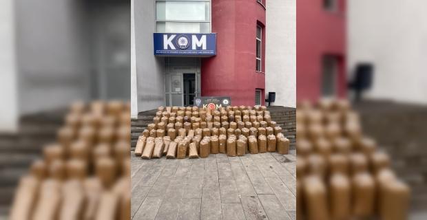 Adana'da kaçak 1865 kilogram tütün ve 6 milyon 550 bin makaron ele geçirildi