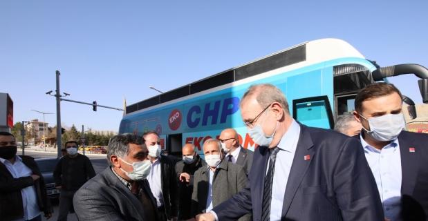CHP Ekonomi Masası Heyeti, Malatya'da esnafın sorunlarını dinledi