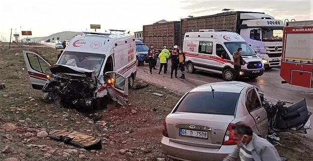 Kahramanmaraş'ta feci kaza kamerada