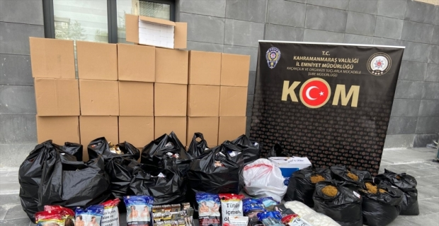 Kahramanmaraş'ta kaçakçılık operasyonunda bir şüpheli hakkında işlem yapıldı