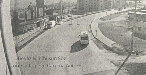 Osmaniye'de köpeğe çarpıp kaçan minibüsün sürücüsü KGYS kamerası kayıtlarından bulundu