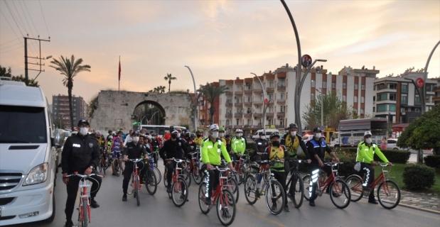 Türk Polis Teşkilatının 176. kuruluş yılı anısına bisiklet turu düzenlendi