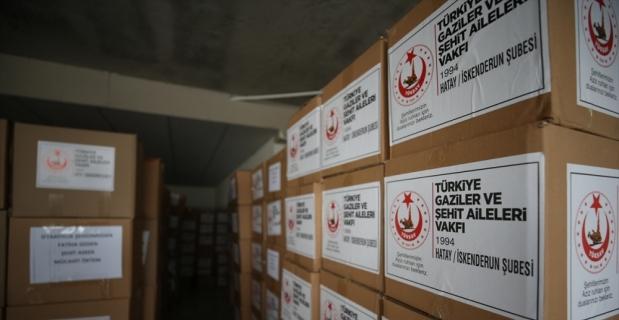 Türkiye Gaziler ve Şehit Aileleri Vakfı, Hatay'da 3 bin 650 aileye iftarlık dağıttı