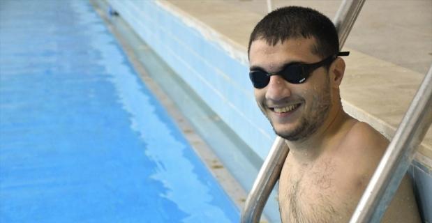 """""""Balık adam"""" Beytullah, Tokyo Paralimpik Oyunları'na iddialı hazırlanıyor"""