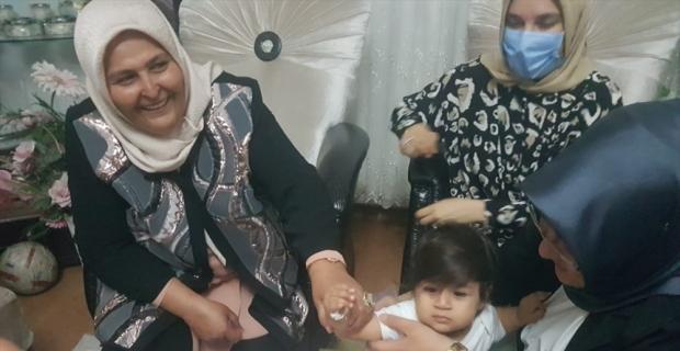 Kahramanmaraş'ta şehit polis memurunun bir yaşındaki kızına doğum günü sürprizi