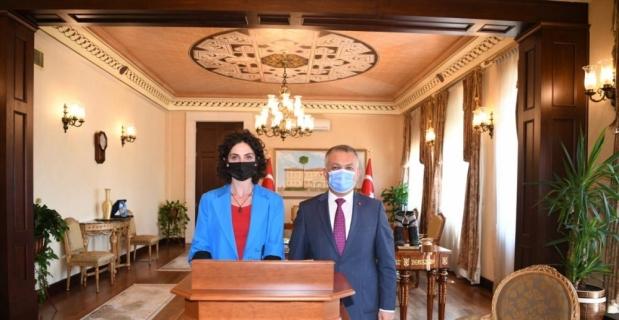 Kosova Kültür, Gençlik ve Spor Bakan Yardımcısı Osmani, Antalya Valisi Yazıcı'yı ziyaret etti