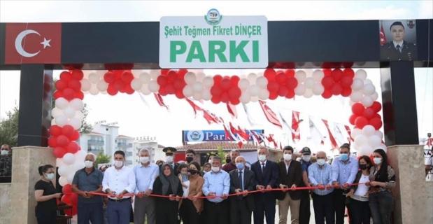 Serik'te Şehit Teğmen Fikret Dinçer Parkı açıldı