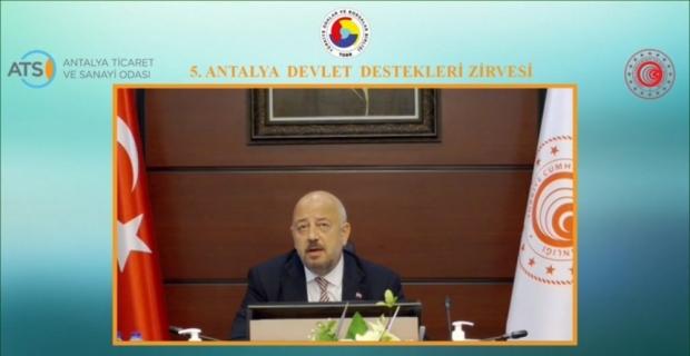 Ticaret Bakan Yardımcısı Rıza Tuna Turagay, 5. Antalya Devlet Destekleri Zirvesi'ne katıldı:
