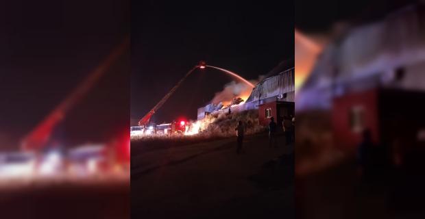 Adana'daki geri dönüşüm fabrikasında çıkan yangın söndürüldü