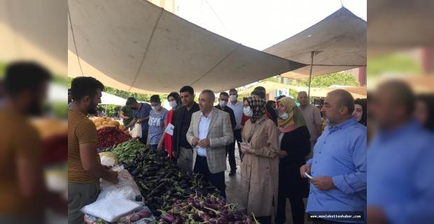 Deva Partisi Kahramanmaraş Teşkilatı Pazar Esnafınının Sorunlarını Dinledi