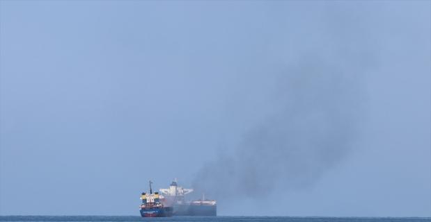 İskenderun Körfezi'nde bir gemide yangın çıktı