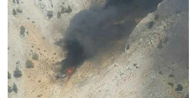 Kahramanmaraş'ta düşen uçağın enkazına ulaşıldı
