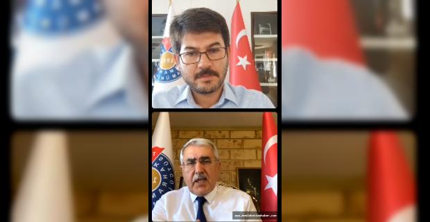 """Rektör Can, """"Online Tanıtım Günleri"""" kapsamında öğrencileri KSÜ hakkında bilgilendirdi"""