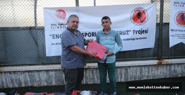 Kahramanmaraş'ta 'Engelleri sporla yıkıyoruz' projesine destek