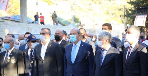 KKTC Cumhurbaşkanı Tatar, 41. Fırka Belen Şehitler Abidesi'ni ziyaret etti: