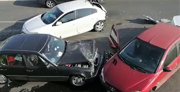 Kahramanmaraş'ta zincirleme kaza: 5 yaralı
