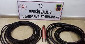 Mersin'de internet kablosu hırsızlığı...