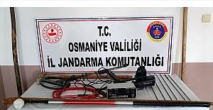 Osmaniye'de kaçak kazı yapan 4 kişi suçüstü...