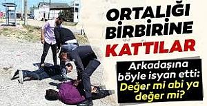 Antalya#039;da polisi görünce kaçan...