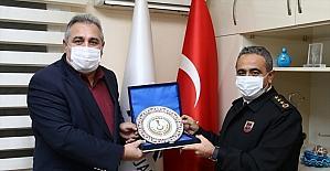 Adana İl Jandarma Komutanı Albay Taşkın Keleş'ten AA'ya ziyaret
