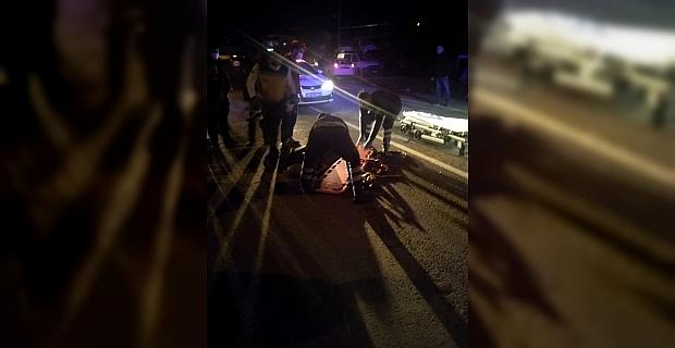 Antalya'da otomobilin çarptığı yaya yaralandı