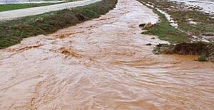 Burdur'da sağanak dereleri taşırdı, tarım alanlarına zarar verdi
